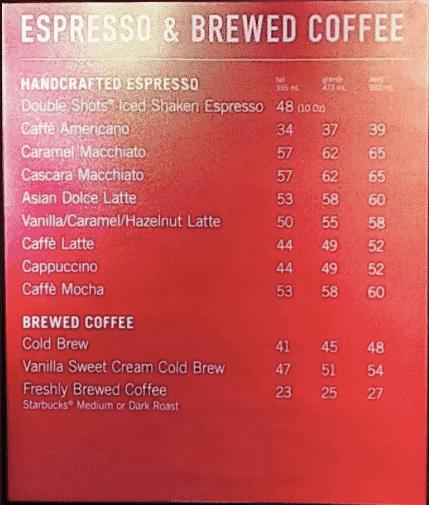 Tips hemat ngopi di Starbucks: perhatikan menu harganya! (sumber: zomato)