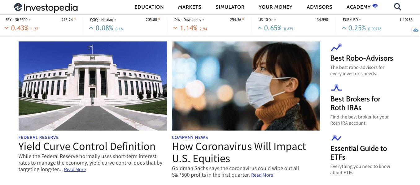 Website keuangan: Investopedia untuk referensi investasi dan keuangan