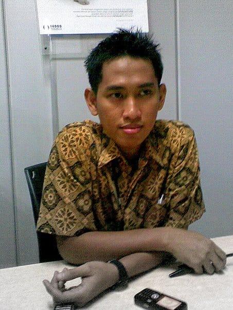 Selfie di bank Mandiri