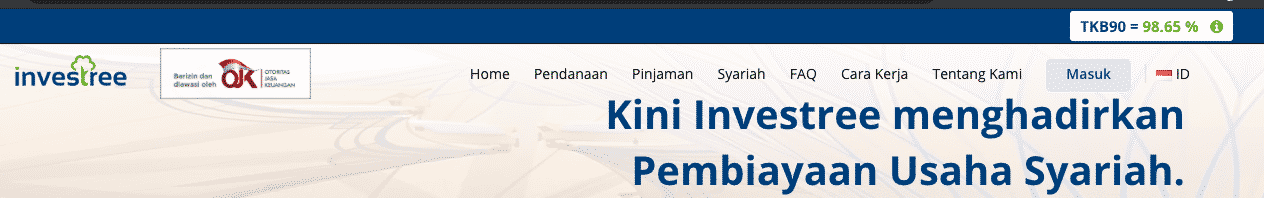 TKB90 Investree : 98,65% ->pertimbangan untuk menjadi investor pinjaman online di P2P lending