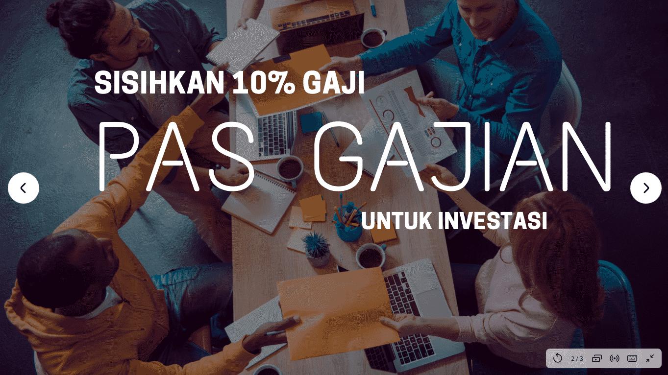 Cara cepat kaya: langsung beli investasi 10% penghasilan setiap gajian